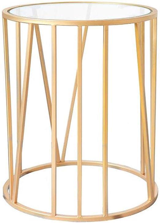 L-life Mesas para lámparas Mesa Lateral Mesa de Centro de Metal Mesa de Estar Mesa de jardín Mesa de Ocio Mesa de Lectura 40 * 40 * 65 cm: Amazon.es: Hogar