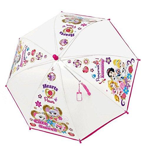 Perletti Perletti5041742x 8cm Fille PoE Palace Pets Transparent Imprimé de sécurité ouvert Parapluie