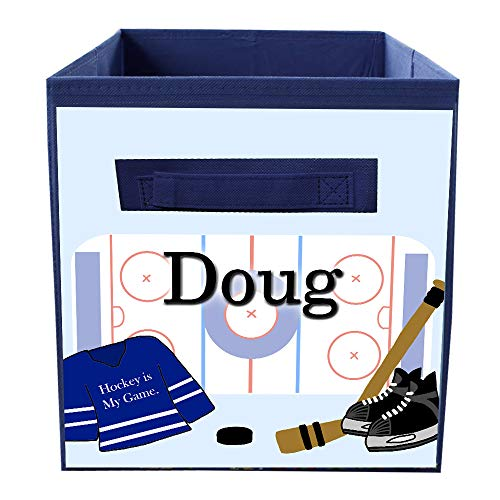 Toad and Lily Hockey Bin Kid's Personalized Bedroom Baby Nursery Organizer for Toys or Clothing FB0149