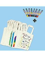 German Trendseller®- Kinder Stoffbeutel Kindergarten klein 22 x 27cm Tragetasche /10 Stück