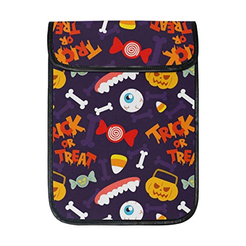 KEAKIA Halloween Trick Or Treat Pattern Laptop Tablet Sleeve iPad Pro Case Cushion Protective Sleeve Bag Cover Case for Apple iPad Pro 12.9 Inch -