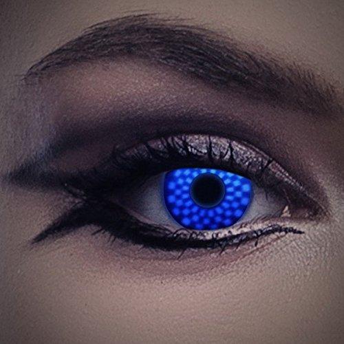 UV Kontaktlinse Magic by aricona - Deckende farbige Jahreslinsen für dunkle und helle Augenfarben ohne Stärke, Farblinsen für Karneval, Fasching, Motto-Partys und Halloween Kostüme