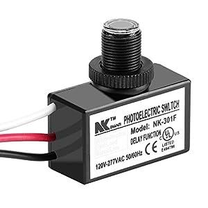 120-277V Dusk to Dawn Sensor Photoelectric Switch Light Photocell Sensor Lighting Switch