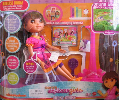 Dora Explorer Girls DORA LINKS Doll - Talking Dora Doll & Accessories (2009) (Links Dora)