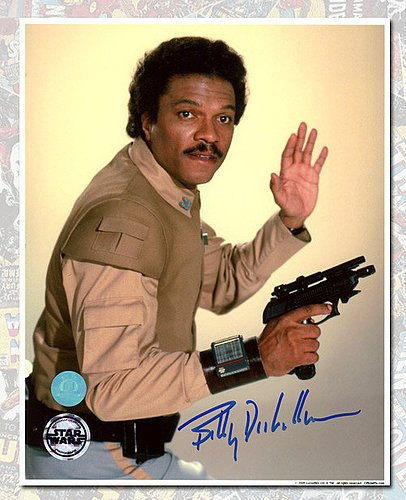 Billy Dee Williams Autographed Lando Calrissian Star Wars 8x10 Photo - Authentic Autographed Autograph
