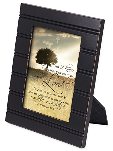 For I know the Plans I Have For You Jeremiah 29:11 Black 8 x 10 Sentimental Framed Art Plaque