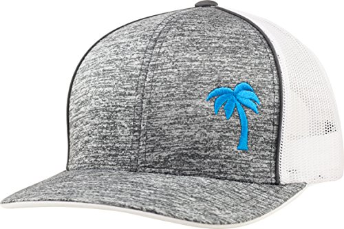 Trucker Hat - Palm Tree Series - by Lindo (Static Gray/Aqua)
