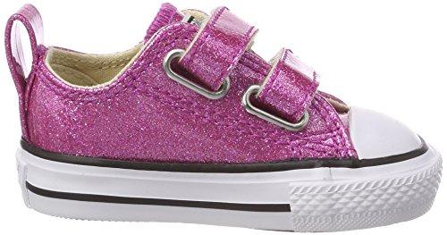 Converse Ctas 2v OX, Zapatillas Unisex Niños Pink (Bright Violet/Natural/White)