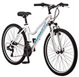 Schwinn High Timber Women's Mountain Bike, 26' Wheels, White/Blue