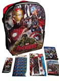 Marvel Avengers Age of Ultron Multi-purpose Backpack, Mechanical Pencils; Stickers, Crayons, Mini Milk Chocolate Bars, Pocket Tissues; 6-pc