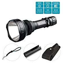 Olight® M2X-UT Javelot Kit CREE XM-L2 LED Flashlight 1020 Lumens 810 Meters Long Throw Distance Search Light Tactical Torch for Camping Hiking Hunting Backpacking Night Fishing