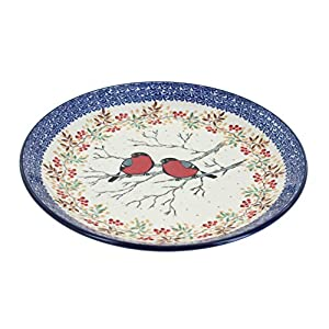 Blue Rose Polish Pottery Meadowlark Dinner Plate