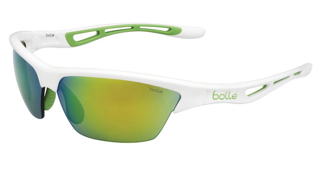 Bolle Tempest Sunglasses Shiny White Frame Modulator Lens Bolle Serengeti Eyewear 11820