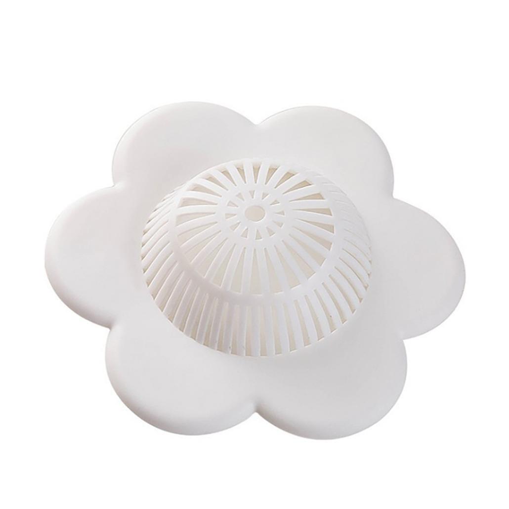 Sinwo Universal Floor Plug Kitchen Bath Tub Sink Silicone Water Stopper Tool (White)