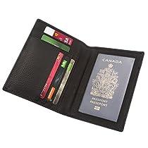 Genuine Leather Wallet Passport holder Organizer Credit card case SD 017