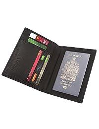 Genuine Leather Wallet Passport holder Organizer Credit card case (Black) SD 017