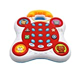 Electronics Features Best Deals - Ver-Baby Childrens Kids Phone Activity Center Playset Electronic Features Flashing Lights, Songs and Animal Sounds