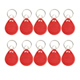 10Pcs 125KHZ RFID Proximity ID Card Token Tags Key Fobs Home 4 Colors Available - Red