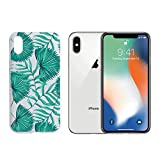 3d jelly cases for galaxy s5 - Tropical Leaves Summer Beach Holiday Rubber Jelly Matt White Plastic Phone Case for Iphone_ SUPERTRAMPshop (VAS1381, iphone X)
