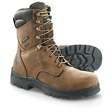 Men's Browning BR9318 Insulated Waterproof Boots, DARK BROWN, 8.5W(EE)