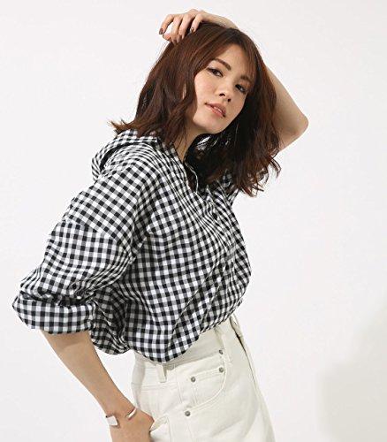 (아줄 바이 마우지) AZUL by moussy 셔츠 깅엄 체크 셔츠 250BSA30-657E 여성 레이디스