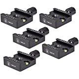 "5 Pack Desmond DAC-01 50mm QR Clamp 3/8"" w 1/4"" Adapter Arca Compatible for Tripod Head"