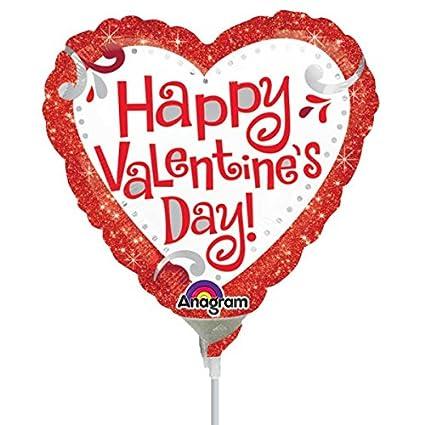 Amazon Com Anagram Happy Valentine S Day Red Glitter Mini Foil