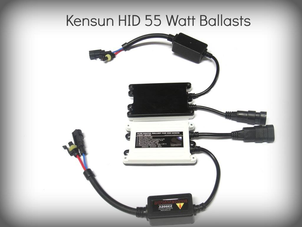Kensun 55 Watt HID Xenon Conversion Kit All Bulb Sizes and Colors with Digital Ballasts - H4 (HB2) (9003) Bi-Xenon - 10000k