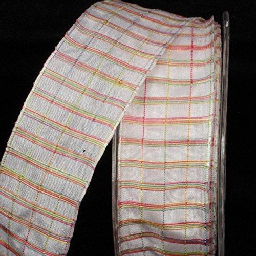 White And Stripe Taffeta