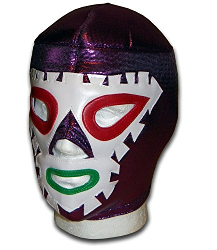 Aztec Costume Uk (WRESTLING MASKS UK Men's Saeta Aztec Arrow Luchador Mexican Wrestling Mask One Size Purple)