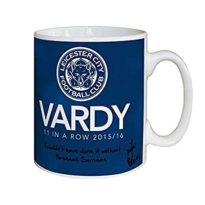 Leicester City Official Personalized FC Vardy 11 in a Row Mug - Free Personalisation