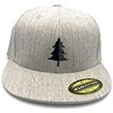 Men's Hat - Split Tree Illustration - Men's Flat Bill & Curved Bill Fitted & Snapback Options Available