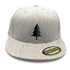 2fd5a8667564e Men s Hat - Split Tree Illustration - Men s Flat Bill   Curved Bill Fitted.