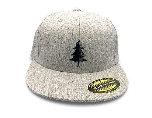 (Men's Hat - Split Tree Illustration - Men's Flat Bill & Curved Bill Fitted & Snapback Options Available)