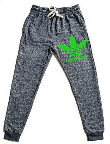 Men's Addicted Weed Leaf V355 Graphic Snow Fleece Jogger Sweatpants – DiZiSports Store