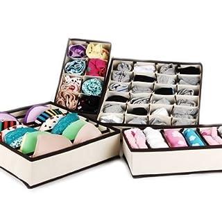 MIU COLOR® Drawer Dividers Closet Organizers Bra Underwear Storage Boxes (Set of 4) (B00J876C4O) | Amazon price tracker / tracking, Amazon price history charts, Amazon price watches, Amazon price drop alerts