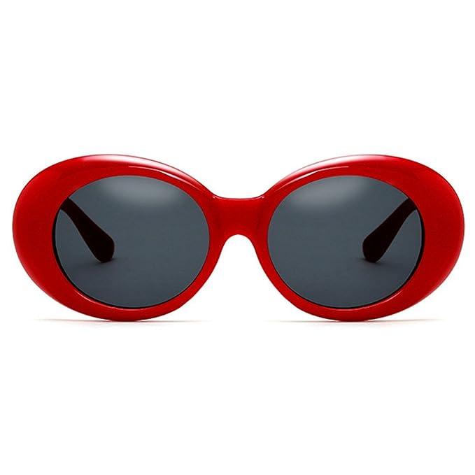 Kunfang Gafas de sol Gafas Unisex Kurt Cobain Bold Retro ...