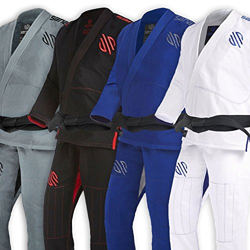 Sanabul Essentials Version 2 Ultra Light BJJ Jiu Jitsu Gi with Preshrunk Fabric (A1, White)