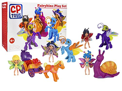 CP Toys - Fairykins and Friends Ship 28-Piece Playset - Colorful, Detailed Figurines and Accessories - Ages 4+