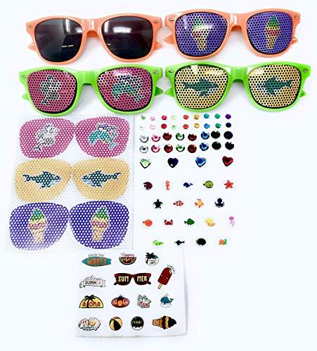 Bulk 5 Set Kids Sunglass Craft ()