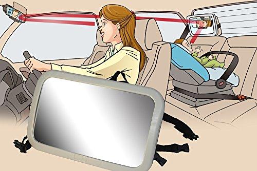 Back Seat Mirror: Mr. Peekatmee Backseat Baby Safety Mirror by Mr. Peekatmee (Image #2)