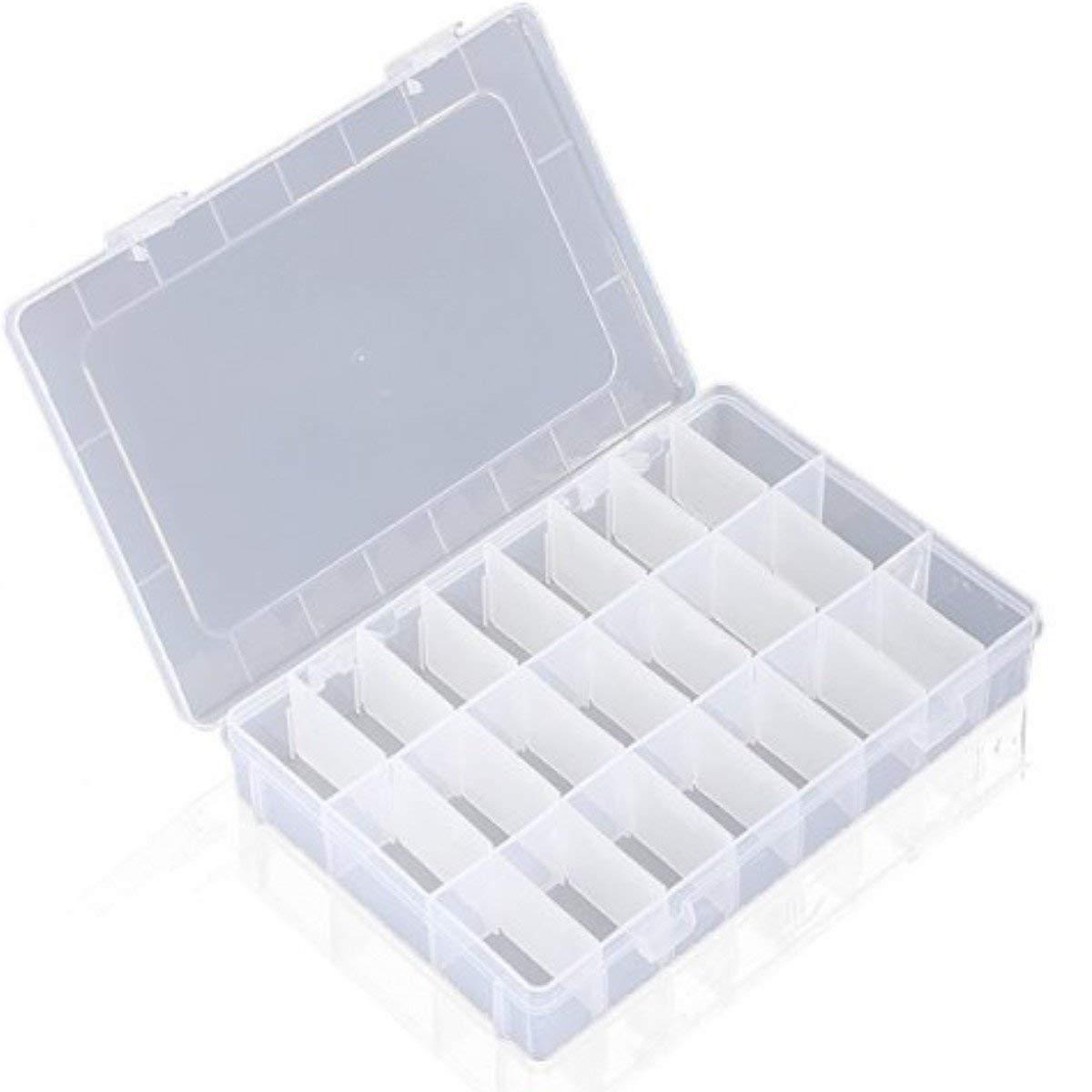 Lyanther Contenitore portautensili in plastica con scatola di stoccaggio regolabile a 24 scomparti