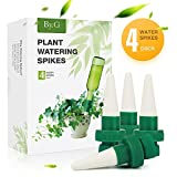 BAIYI Kitchenware Plant Waterer Self Watering Spikes, Automatic Vacation Plant Watering Device, Self Irrigation Watering System for Indoor Outdoor Planter Stake-4 Pack Plant Nanny
