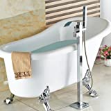 GOWE luxury Free stand Floor Mounted Clawfoot Bath Tub Faucets Bath Tub Mixer Faucet