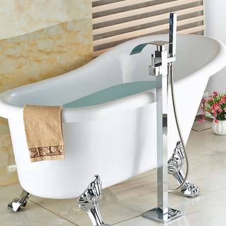 GOWE luxury Free stand Floor Mounted Clawfoot Bath Tub Faucets Bath Tub Mixer Faucet by Gowe (Image #4)