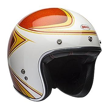 Bell Custom 500 Copperhead Open Face Casco de Moto, Orange White, Medium