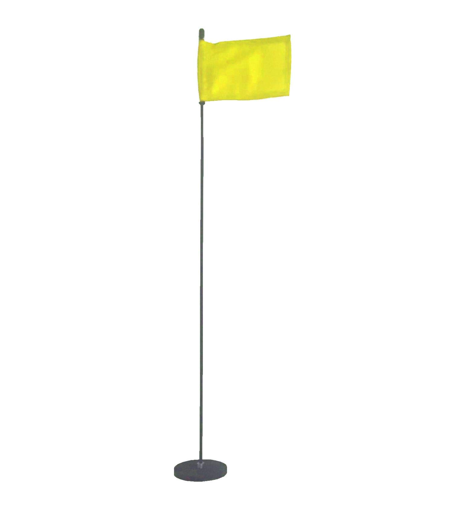 Magnetic Base Flag Holder 3 FT. Steel Pole - Hold Force 44 lbs. - 4 x 6 Yellow Flag