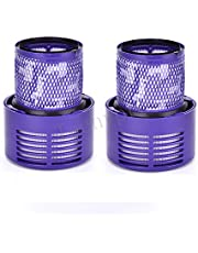 Techypro 2-Pack Parts V10 Filter for Dyson Cyclone V10 Animal/Absolute/Motorhead/Total Clean, Compare to Part # 969082-01