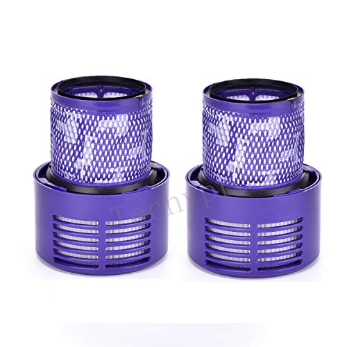 Techypro 2-Pack Dyson V10 Filters Replacement Part Compatible with Dyson Cyclone V10 Animal/Absolute/Motorhead/Total Clean, Compare to Part # 969082-01