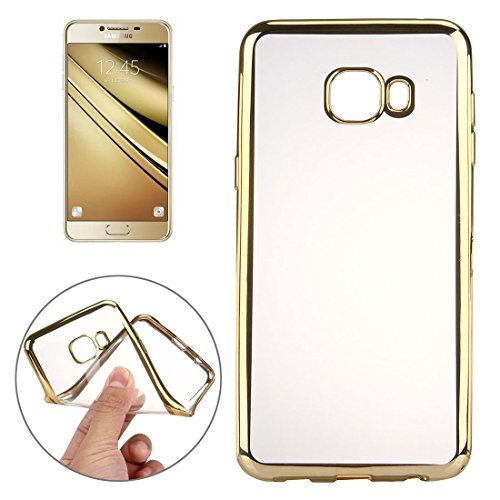 SRY-screen protector For Samsung Galaxy A9 / A900 Electroplating Transparent Soft TPU Protective Cover Case ( Color : Gold )